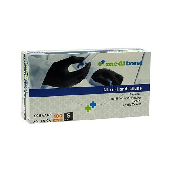 Γάντια νιτριλίου μαύρα Μeditrast (100τμχ)