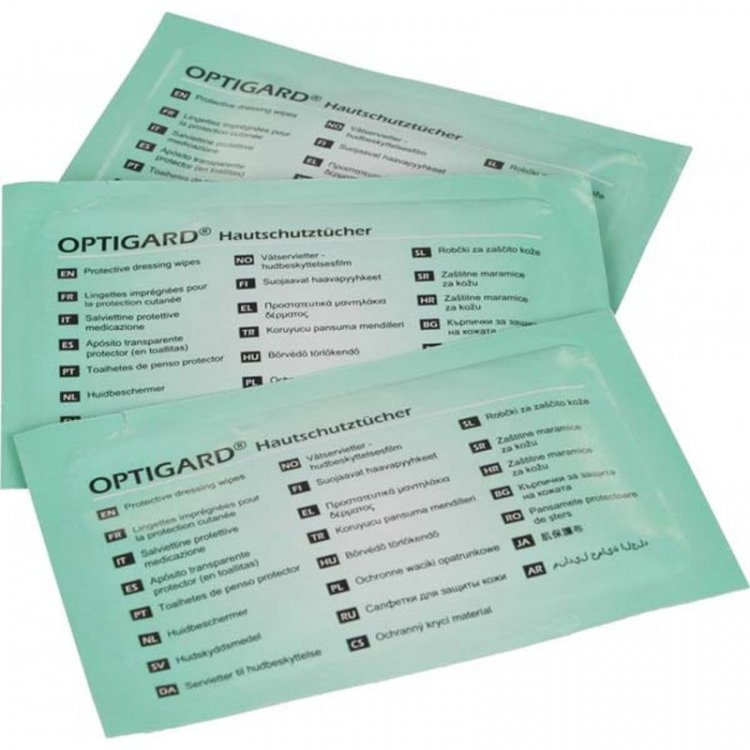 Optigard® Protective dressing wipes (pack of 50)