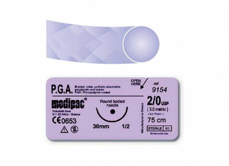Medipac PGA Absorbable Suture No Needle