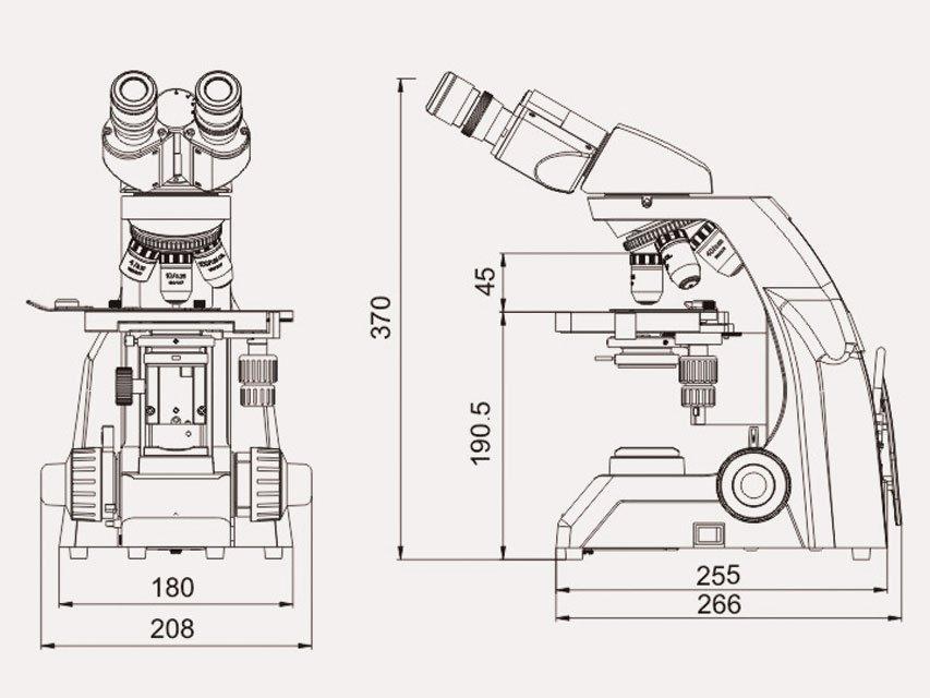 Μικροσκόπιο Εργαστηριακό LED 40-1600X