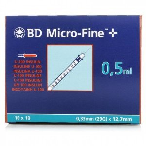 BD Micro - Fine Σύριγγες Ινσουλίνης 0.5ml 30G (10τεμ)