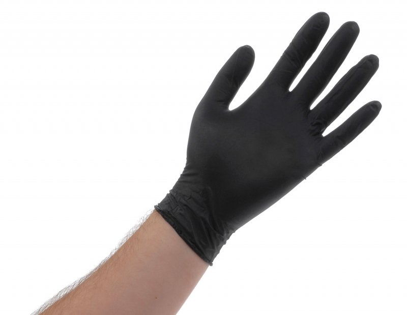 Filoskin Latex Powder Free Gloves - Black (100pcs)