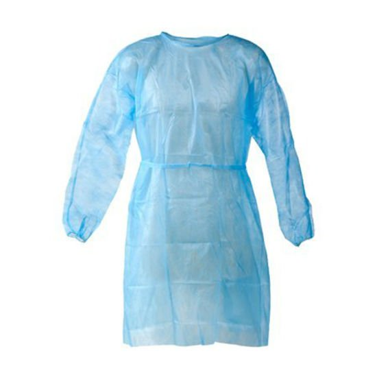 Non-woven Disposable Visitor Gowns- 30gr Blue (10pcs)