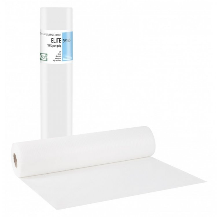 Laminated Couch Roll (waterproof) Elite Soft - White