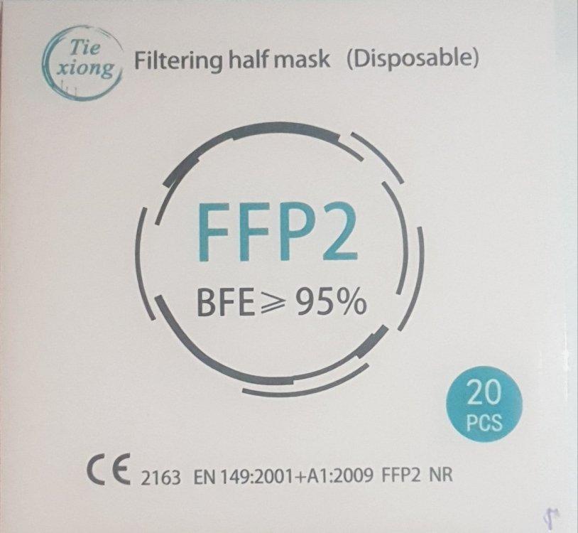 Mάσκες FFP2 Ροζ (20τμχ)