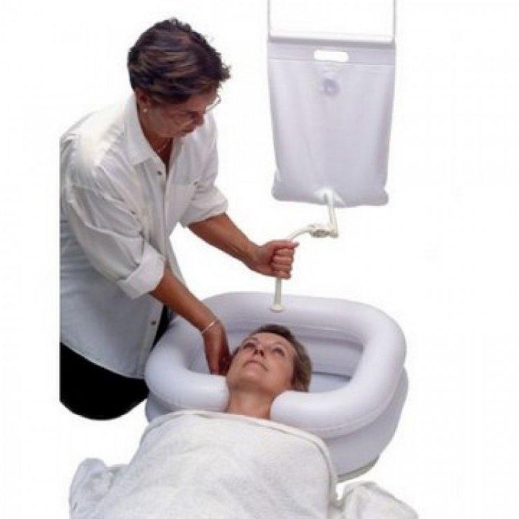 Inflatable Shampoo Basin with Bag