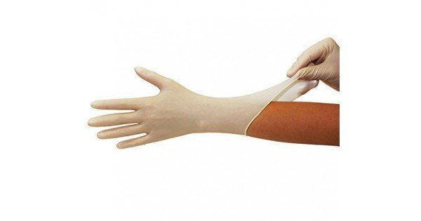 Γάντια εξεταστικά Supergloves latex με πούδρα (100τμχ)