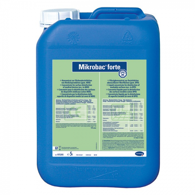 Mikrobac Forte Bode  Floor & Surface Disinfectant 5Lt