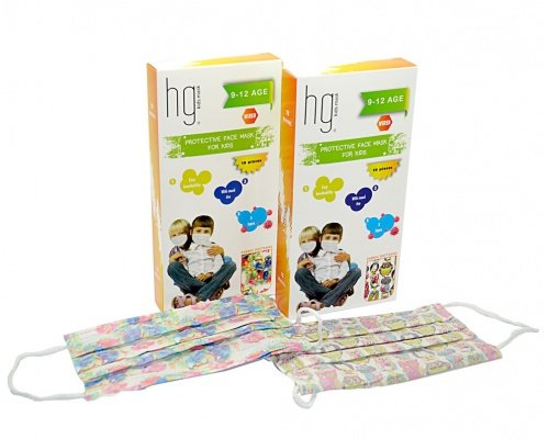 Kids Surgical Face Masks 9-12 years old (10pcs)
