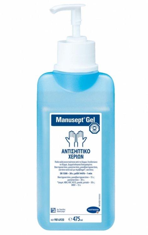 Αντισηπτικό gel χεριών Manusept 475ml