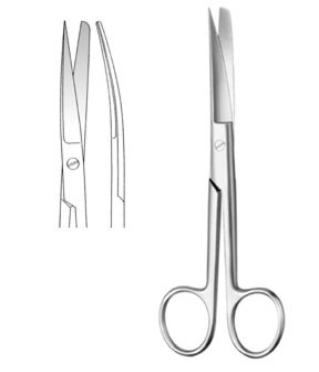 Curved Surgical Scissors