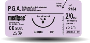 Medipac 1 PGA Absorbable Suture
