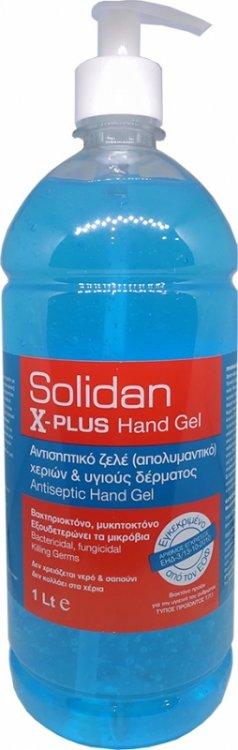 Αντισηπτικό gel χεριών Solidan 1LT