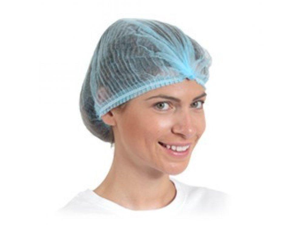 Disposable Non-woven Pleated Caps - Blue (100pcs)