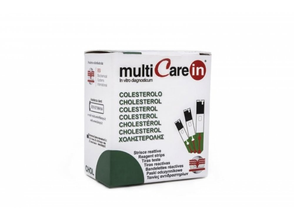 Multicare In Cholesterol Strips 25pcs