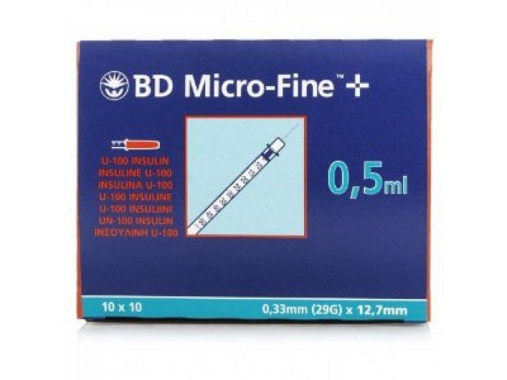 BD Micro - Fine Insuline Syringe 0.5ml 30G (10pcs)