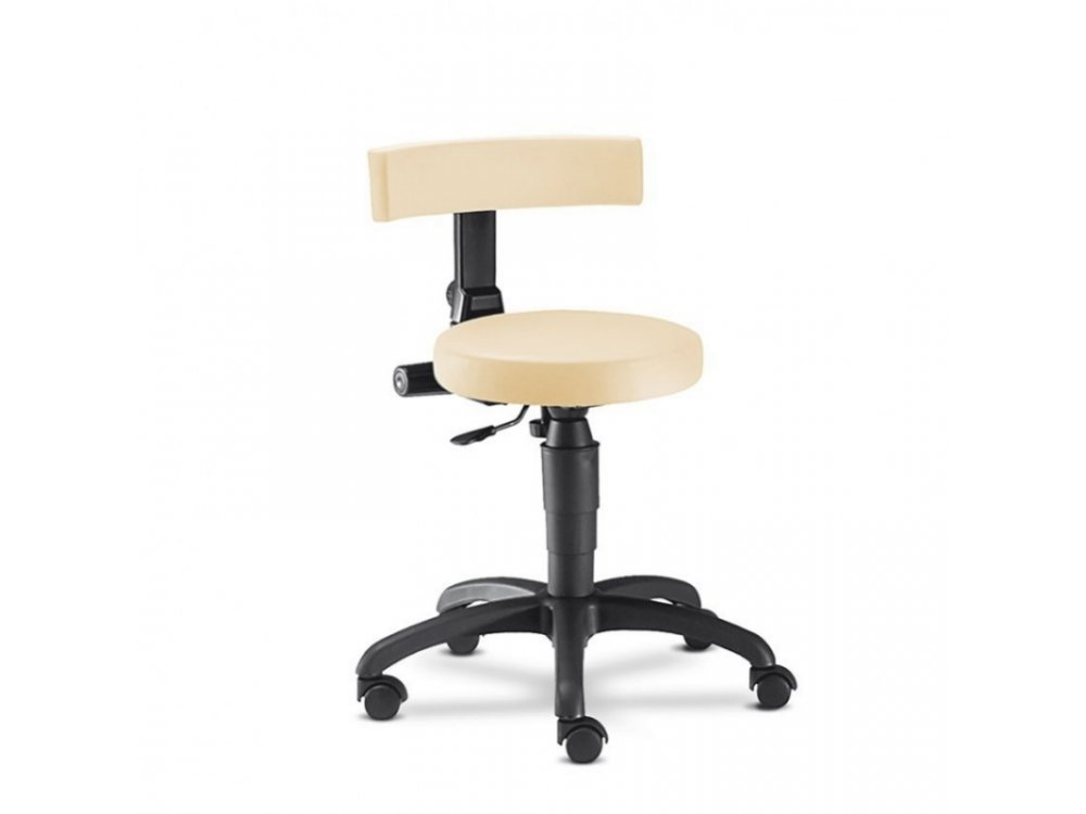 Ecco black Stool with Back