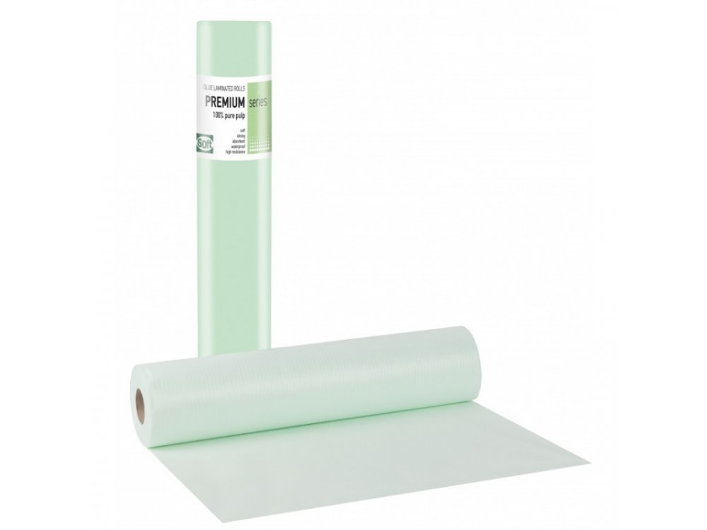 Laminated Couch Roll (waterproof) 60cm Soft - Green