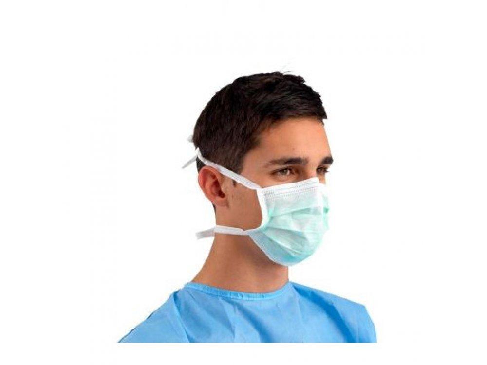 Μάσκες μιας χρήσης δετές (50τμχ)