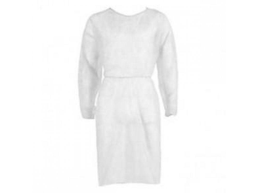 Non-woven Disposable Gowns 25gr - White (10pcs)