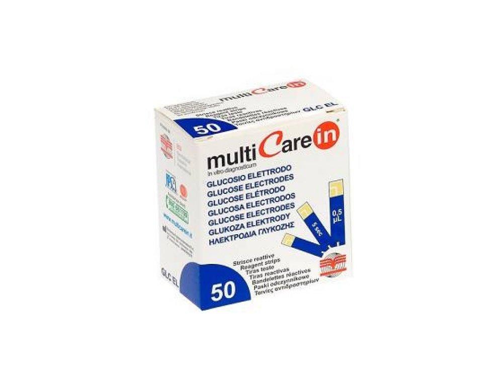 Multicare In Glucose Electrodes (Glucose Strips) 50pcs