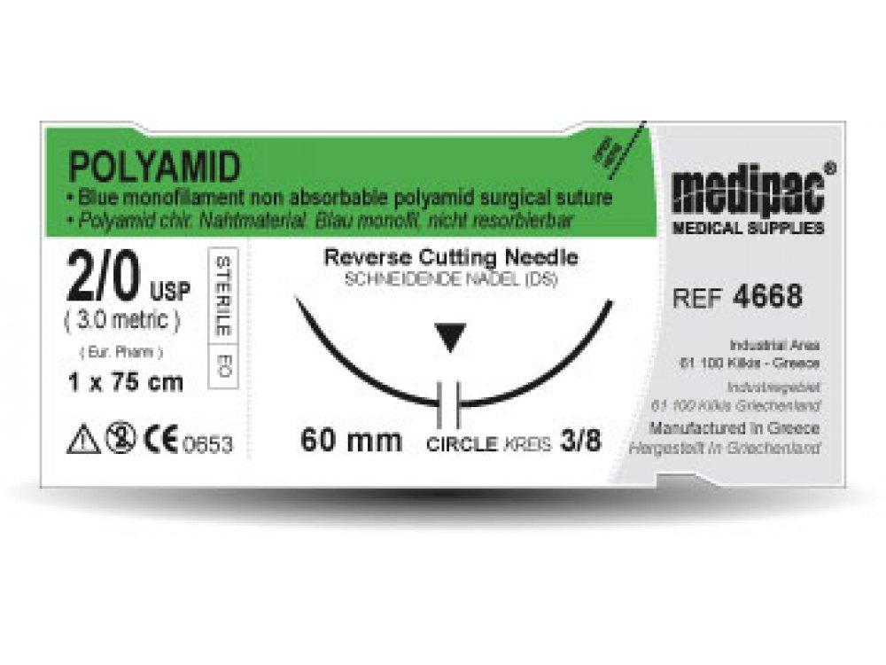Ράμμα Polyamid 5/0 Medipac