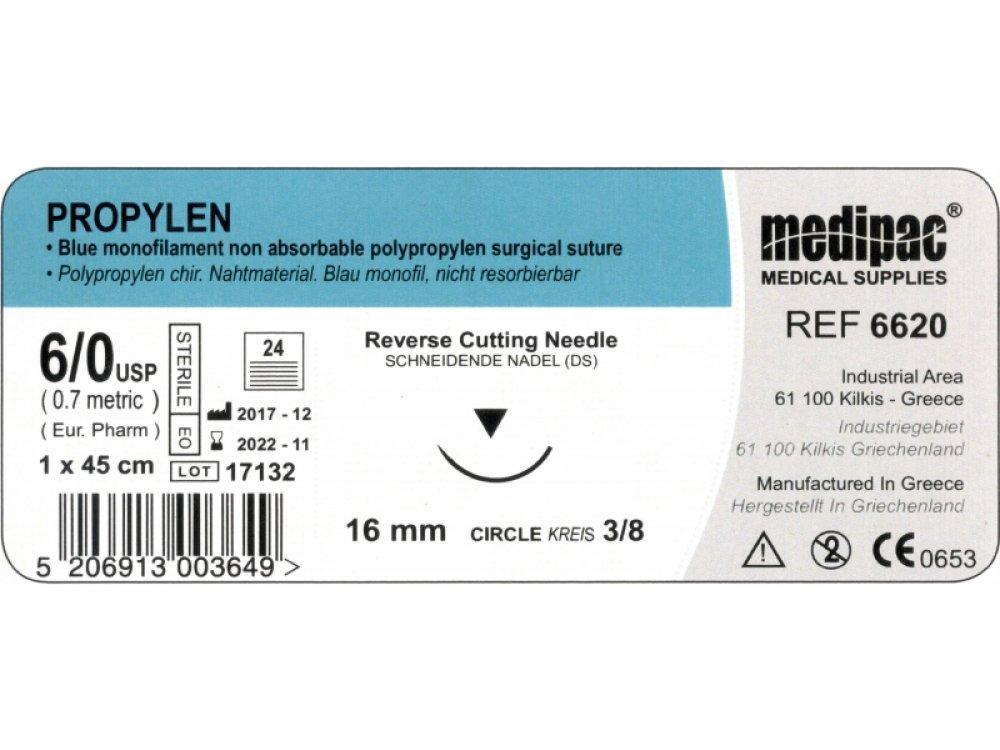Medipac Propylen 6.0 Suture