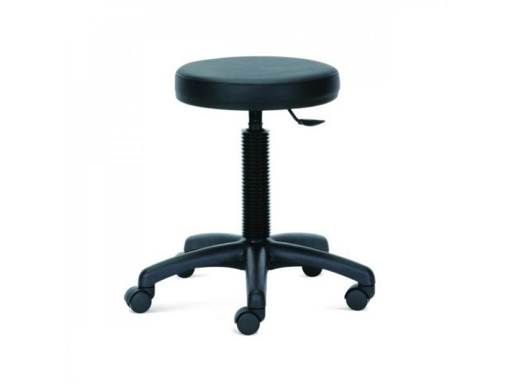 Round Stool with Rollers