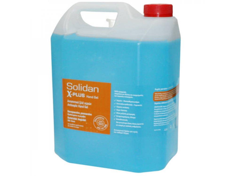 Αντισηπτικό χεριών gel Solidan 4lt