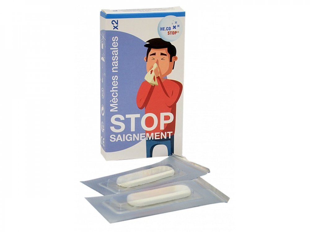 Stop Saignement Nasal Bleeding Tampons (2pcs)