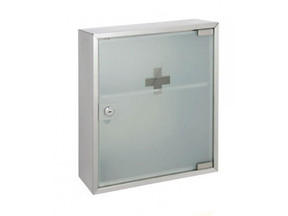 Wall-Mounted First Aid Cabinet with Glass Door