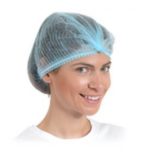 Disposable Non-woven Pleated Caps - Blue (100pcs)