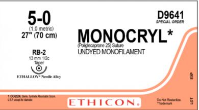 Monocryl 5.0 Suture