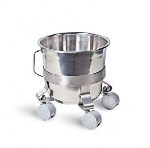 Inox Bucket in Trolley Stand