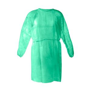 Μπλούζα ασθενών non-woven πράσινη διαφανής (10τμχ)