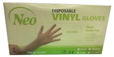 Γάντια βινυλίου χωρίς πούδρα Neogloves (100τμχ)