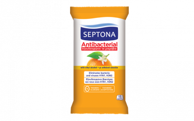 Septona Antibacterial Cleaning Wipes (15pcs)