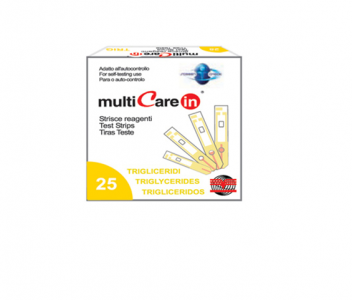 Multicare In Triglyceride Test Strips 25pcs