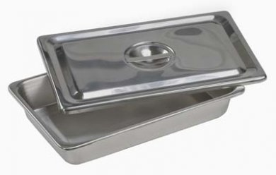 Inox Instrument Tray with Lid / Sterilization Container